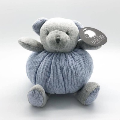 Little Caleb Organic Knit Doll - Bear 17cm